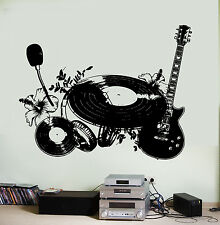 Wall Vinyl Music Shield Flower Instruments Guaranteed Quality Decal (z3554)