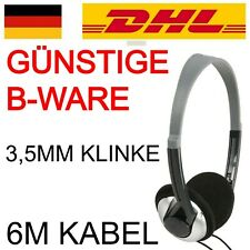 B-Ware TV Kopfhörer mit langem Kabel lang 3,5mm PC Fernseher wired verkabelt