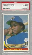 1984 DONRUSS # 630 DARNELL COLES ☆ROOKIE☆ SEATTLE MARINERS PSA 10 GEM-MINT