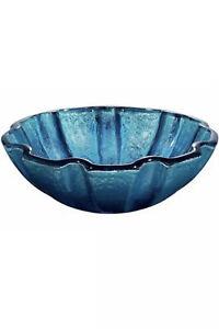 VIGO VG07032 Mediterranean Seashell Glass Vessel Bathroom Sink & Faucet