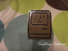 Happy Mac Face Smile Lapel Pin (Silver) - Apple Classic Vintage Mac OS Rare