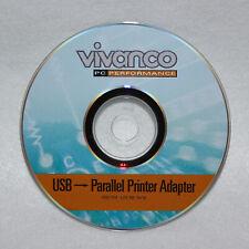 Vivanco PC Performance USB auf Parallel Anschluss Drucker Adapter Software
