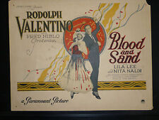 VALENTINO - 1922 BLOOD AND SAND - VINTAGE 8 LOBBY CARD SET - 7 CARDS IN EXC CON