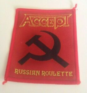 Accept Russian Roulette vintage 1980s SEW-ON PATCH