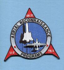 SKUNK WORKS LOCKHEED SR-71 BLACKBIRD U-2 TR-1 USAF Recon TRS Squadron Patch