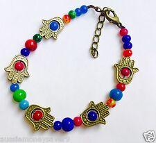 baby girl charm Bracelet Beads hams  Blessing hand fatima miriam adjustable