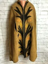 Queen Of The Capes Leather Vintage Vtg 70s 80s Country Place Tree Poncho