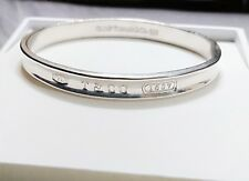 1997 Tiffany & Co 1837 Sterling Silver 925  Large Oval Bracelet Bangle