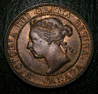 Old Canadian Coins UNC 1893 Canada HIgrade Large Cent Beauty Luster