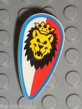 Bouclier LEGO castle minifig shield Lion 2586p4d / Set 6090 6078 6008 6044 1753