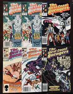 Marvel Comics West Coast Avengers Lot 19 - 23 1987 Hawkeye Iron Man Uncertified