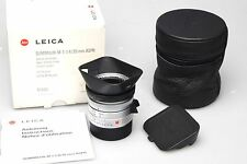 Leica Summilux-M 1:1 .4/35 mm ASPH. Silver Chrome 11883 6-bit like new