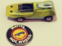 Vintage Hot Wheels Redline Peeping Bomb & button HTF yellow Very Good Condition