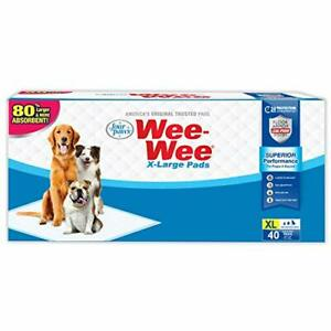 New ListingFour Paws Wee-Wee Superior Performance Dog Pads Superior Performance 40 Count