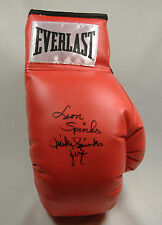 MICHAEL & LEON SPINKS SIGNED AUTOGRAPH RED LACE UP EVERLAST BOXING GLOVE JSA HTF