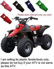 Kazuma Meerkat Front & Rear Fender & Grill Plastic body Redcat 50 70cc ATV black