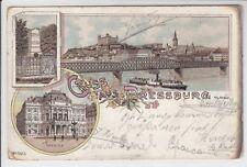 AK Bratislava, Pressburg, Theater, Denkmal Litho 1898