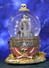Walt Disney Snowglobe Pirates of Caribbean Helmsman Skeleton at the Wheel