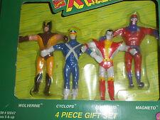 Vintage Set 4 Bend Ems X Men 1991 Bendable X-Men JusToys Original Box #12047
