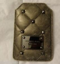 NWT Michael Kors Quilted Studs Iphone Case Nickel