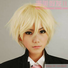 Axis Powers Hetalia England Short Light Blonde Cosplay Hair Wig + free wig cap