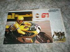 1975 YAMAHA XS650 & XS500 Motorcycle  Ad with AMA Champ Kenny Roberts 2 pgs