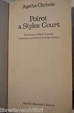 POIROT A STYLES COURT Agatha Christie Julian Symons Mondadori 1978 libro giallo