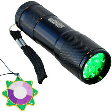 HQRP Green 9-LED's Flashlight Torch Light Pressure Switch Night Hunting Fishing