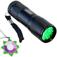 HQRP Green 9-LED's Flashlight Torch Light Pressure Switch Night Hunting Fishing