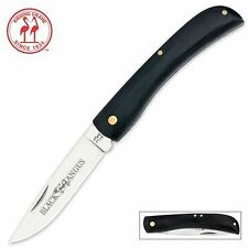 "Kissing Crane Black Angus 7.5""OV Sodbuster Farmer Folding Knife KC5295 NEW"