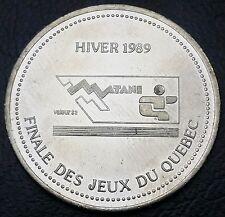 Canada 1989 Ville de Matane Trade Dollar $2 - Finale des Jeux du Quebec w/ COA