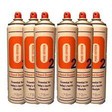 6 X Pure Oxygen 10 Litre cans, Portable Oxygen Cylinders Sport