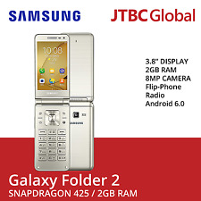 New Samsung Galaxy Folder 2 3.8 Inch 16GB Factory Unlocked Android Smartphone