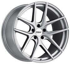 17x8 TSW Geneva 5x112 Rims +45 Titanium Silver Wheels (Set of 4)