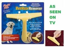Wonder Pet Hair Remover Dog Cat Carpet Drapes Sofa Chair Rubber Wiper Cleaning