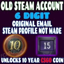 OLD STEAM ACCOUNT - 2003 - 16 Years -  6 digits - 10 year veteran CSGO Coin