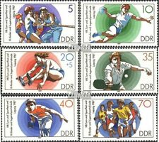DDR 3111-3116 (complete.issue.) FDC 1987 Gymnastics- and Sports Festival