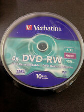 Verbatim DVD-RW 4.7 Go 4 x Speed 1 X 10er Cakebox
