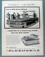 1959 OLDSMOBILE Ad 88 Holiday Scenicoupe 98 Holiday SportSedan A CLASS BY ITSELF
