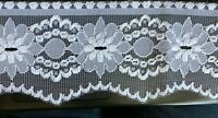WHITE  Flat Lace Trimmings 4 inch  11 cm 2 metres