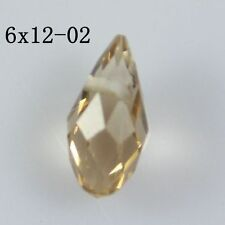 Wholesale lot 20 pcs Glass crystal DIY Teardrop Shape Tear Drop Crystal Beads