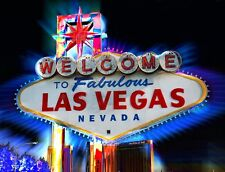 "TIN SIGN "" Las Vegas"" Mancave Wall Decor"