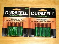 DURACELL AA RECHARGEABLE BATTERIES ( 8 Pieces, 2 Pack *NEW*)