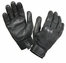Tactical Gloves Black Leather Fire & Cut Resistant Tactical Gloves Rothco 3483 M