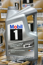 9.46 Liter 2 X Mobil 1 Engine Oil 0W40 (5QT Bottle) 4.73L