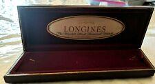 Antique Deco  Vintage Burgundy Dark Red LONGINES  Long Wrist Watch Box #LL