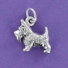 Scottish Terrier Sterling Silver for Charm Bracelet 3-Dimensional Small Scottie