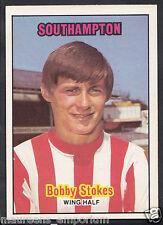 A & BC 1970 Footballer Gum Card - No 44 - Bobby Stokes - Southampton