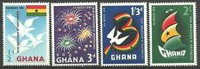 Ghana - 3 Jahre Unabhängigkeit Satz postfrisch 1959 Mi. 73-76