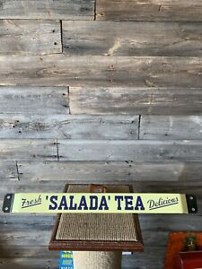 Vintage Salada Tea Sign Advertising Door Push